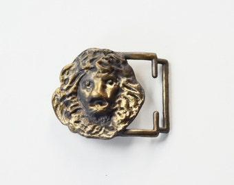 Leo the Lion Deadstock 1970s Metal Belt Buckle