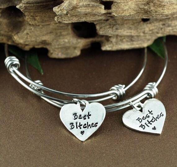 Best Bitches Bracelet Set, Best Friends Bracelet Jewelry, Gift for Best Friends, Bracelet Set for Friends, Bracelet for Best Friend