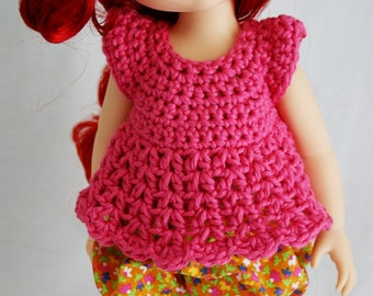 Choose Your Color - Disney Animator Doll Crochet Top Bell Sleeve for a Disney Princess