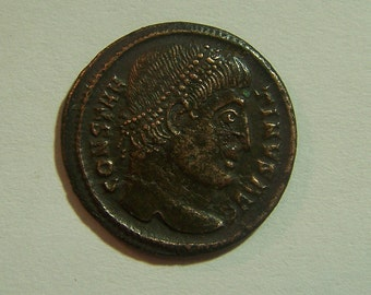 Authentic Ancient Roman Coin Of Constantine I, the Great 307-337 A.D.  Reverse; Campgate