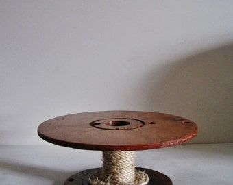 Rustic Wood Spool Cake Stand MADE TO ORDER
