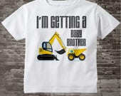 I'm Getting A Baby Brother Shirt - Boy's Big Brother Shirt - Boys Construction Dump Truck Outfit top - Tshirt or Onesie Bodysuit 01132016f