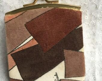 Vintage 60s 70s Rare CoCo GeoMeTriC SiGNeD Emilio Pucci Coin ChaNGe PuRse Bag