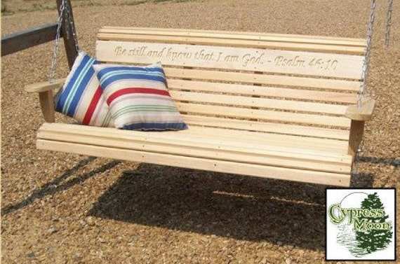 Engraved Porch Swing - Psalm Verse (FREE SHIPPING)