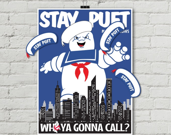 """Ghostbusters Themed """"Pin the Hat on Stay Puft"""" Party Game Printable, Ghostbuster Party Game 
