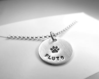 Dog Lover Necklace, Pet Jewelry, Dog Paw, Pet Necklace with Dog Paw, Personalized Dog Necklace, Pet Loss Gift, Dog Jewelry, Paw Necklace