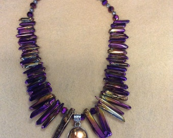 Druzey Purple Pendant Necklace