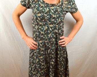 Vintage 80s Floral California Concepts Summer Dress