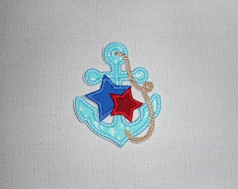 Free Shipping Ready to Ship Anchor Machine Embroidery iron on applique