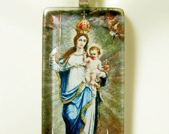 Immaculate conception pendant with chain - GP01-286