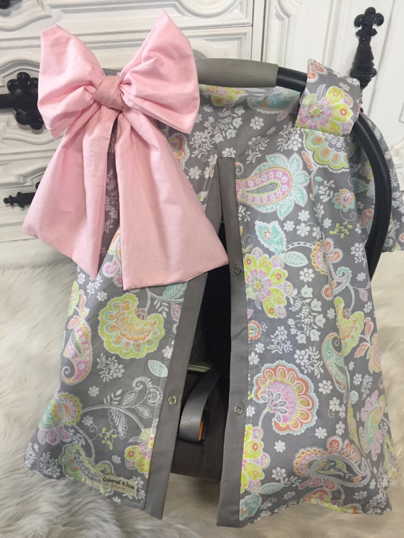 Car seat cover / ADD a matching Jumbo bow