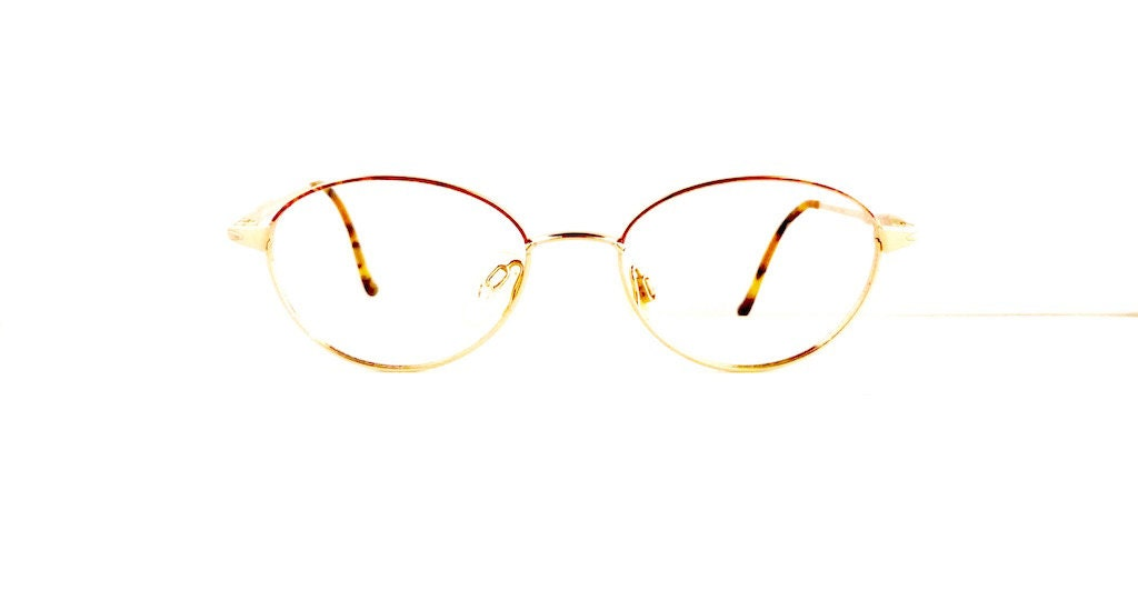 209815be00 90s Mozart by Neostyle Eyeglasses Oval Frames Unisex 1990 s Tortoiseshell  with Gold Detail  M676 DIVINE