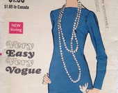 20s Inspired Flirty Drop Waist Vintage 60s Dress Pattern 36 bust Vogue 7704