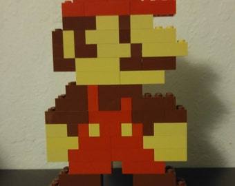 Mario (Super Mario Bros) - LEGO Sculpture