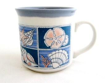 Otagiri Mug SEASHELLS Embossed Stoneware