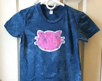 Ladies Cat Shirt, Womens Cat Shirt, Teen Girls Cat Shirt, Blue Cat Shirt, Pink Cat Shirt, Shirt for Cat Lover, Crazy Cat Lady Shirt (S)