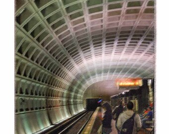 Subway Washington, DC - Artistically Enhanced Limited Edition Print with Touches and Texture on the Computer from an Original Photograph