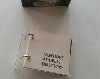 Vintage Acrylic Telephone Book/ Directory