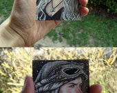 Custom Traditional Painting, Portrait or Illustration Watercolor Commission in ACEO size - ACEO card