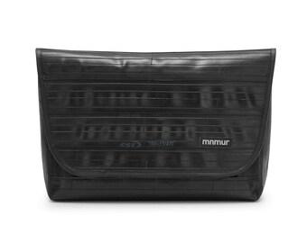Black and Blue Messenger Bag // large mens messenger bag // upcycled bag // vegan messenger bag // laptop // mens satchel bag