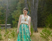 R E S E R V E D... do not buy.....Vintage 60s Nelly de Grab Metallic Maxi Skirt... Cocktail Hour... Psychedelic Fantasy Land