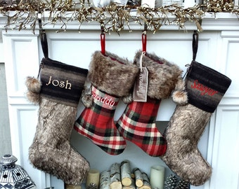 """Fur Christmas Stockings 