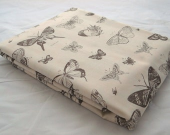 PAPILLON 3 yds butterfly etchings Moda 3 Sisters shabby quilting sewing fabric romantic cream taupe grey 3 full yards 4070-15