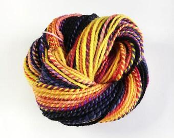 Handspun Superwash Merino and Nylon Yarn for Knitting, Crochet or Weaving - Sunset