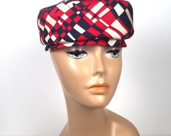 Vintage 1960s Red, White and Blue Hat