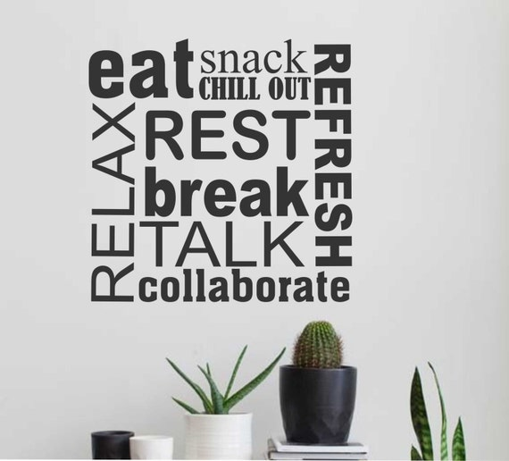 Break Room Wall Decals