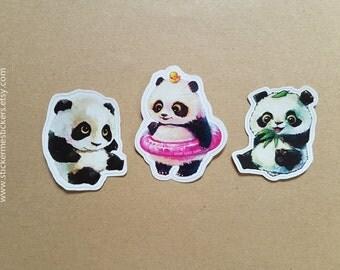 PANDA Vinyl stickers, Panda stickers, Bear stickers, Vinyl stickers, Animal stickers, Animal Vinyl stickers