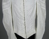 Gorgeous Victorian Antique Bodice Blouse with Exquisite Embroidery