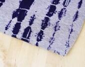 CLOSEOUT SALE Tie Dye Print Stretch Jersey Knit Fabric   Blue Red   1 Yard   Destash