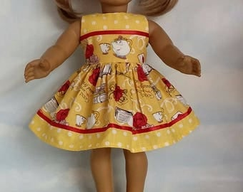 18 inch doll clothes - Beauty and the Beast Dress made to fit the American Girl Doll - FREE SHIPPING