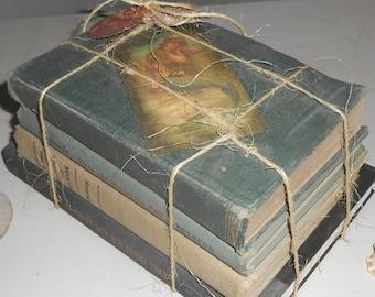 Book Set, Bundle , Book Collection, Mermaid, Beach, Twine, Nautical, Shells