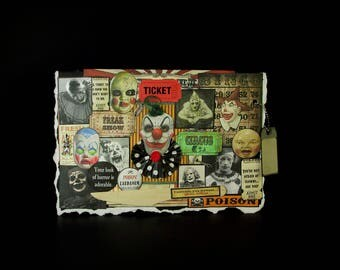 Circus Clown Card, Blank Clown Card, Creepy Clown Card, 99, Scary Clown Card, Clown Card, Vintage Clown Images, Creepy Decoration,  Blank