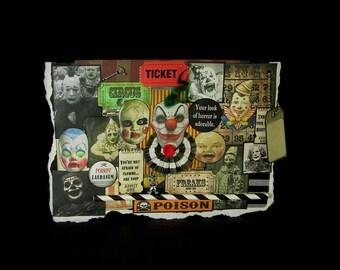 Scary Clown Card, Circus Clown Card, Blank Clown Card, Creepy Clown Card, 101, Clown Card, Vintage Clown Images, Creepy Decoration,  Blank