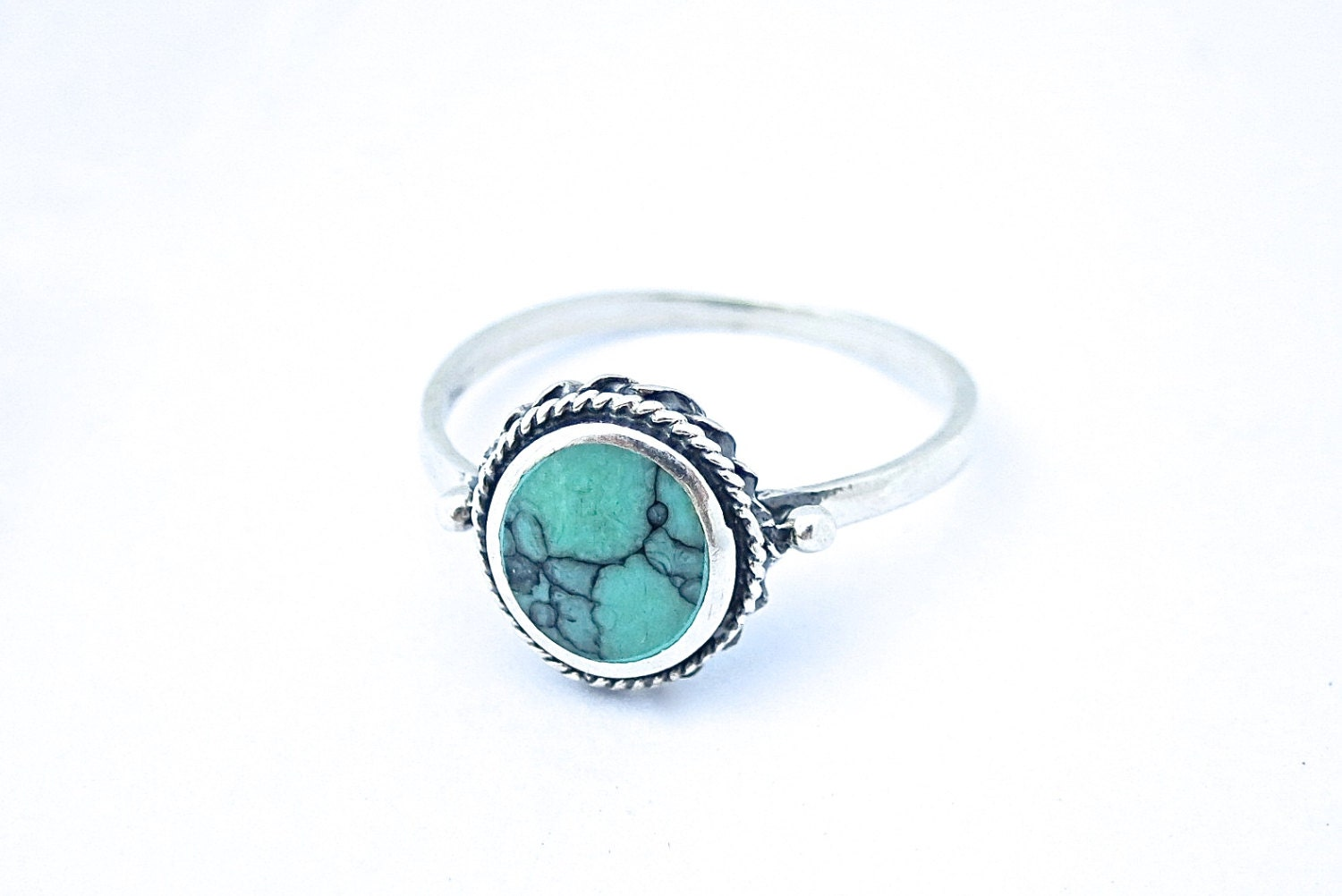 turquoise sterling silver ring dainty ring simple