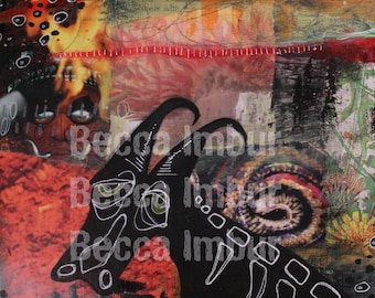 """INSTANT DOWNLOAD : Tired 8"""" x 10"""" - Altered Book - Art Journal - Paper Art"""
