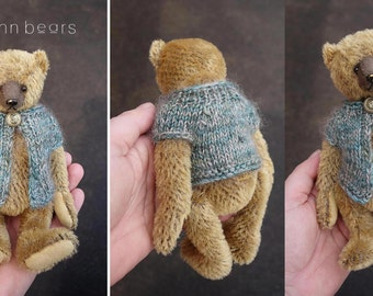 "Eliza,  7"" Mohair Artist Teddy Bear from Aerlinn Bears"