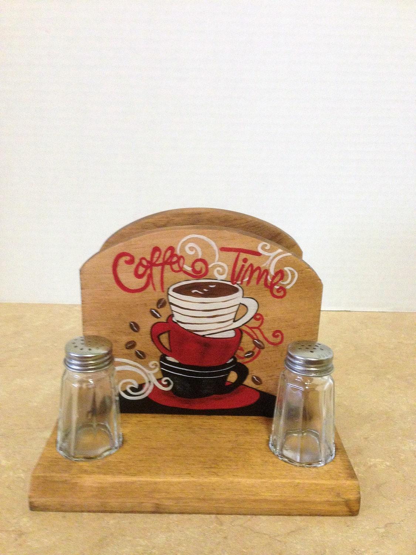 Coffee Decor For Kitchen Napkin Holder Napkin Salt And Pepper Holder Coffee Decor Coffee
