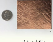 "Textured Copper 24 gauge Sheet Metal 2.5"" x 3"" - Solid Copper - Great for Jewelry Making 94"