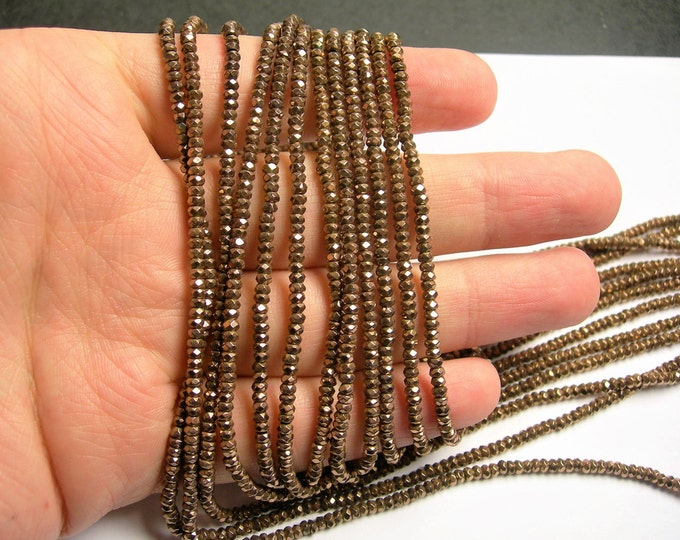 Hematite Copper Bronze - 2.5mmx1.5mm faceted rondelle beads - full strand - 230 beads - A quality - PHG254