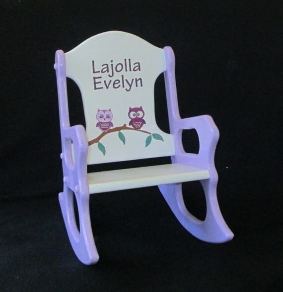 Personalized Toddler Rocking Chair - owls