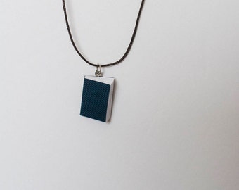 Bookworm Necklace in blue