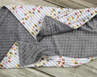 Arrow Minky Baby Blanket, Multicolored Arrow Minky Baby Blanket, Gender Neutral Minky Baby Blanket