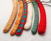 Crocheted Covered Clothes Hangers, Set Of 6, Wood Covered Hangers