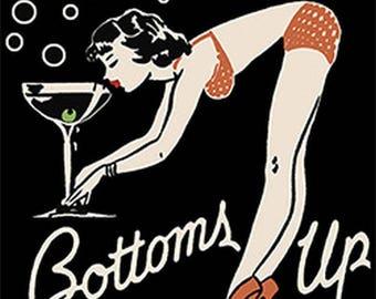 Bottoms Up Womens Short Sleeve T Shirt  21176HD4