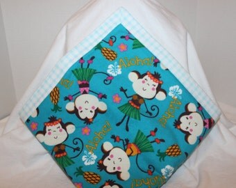 Hula Monkey Flannel Blanket
