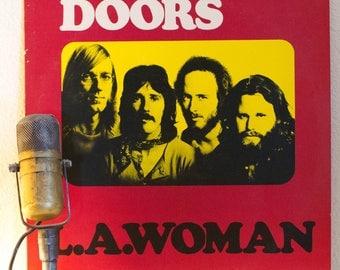 "ON SALE The DOORS Vinyl Lp Record Album 1970s Classic Rock Blues Acid Jim Morrison ""L.A. Woman"" (1983 Elektra re-issue w/ ""Riders on the Sto"